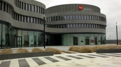 Leica factory in Wetzlar, Germany, cloudy weather, administration and shop - stock footage