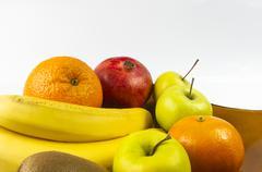 Assortment of exotic fruits Stock Photos