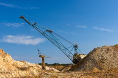 Big dipper dragline excavator Stock Photos