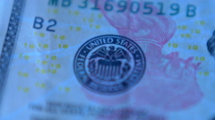 4K United States Ten Dollar Bill Blue Stock Footage
