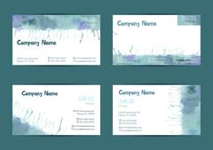 Set of watercolor business cards Stock Illustration