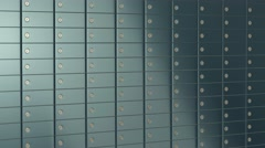 Bank safe box Stock Footage