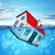 House drowning in sea Piirros