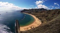 AERIAL: Amazing aerial view of exotic beach Stock Footage