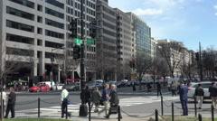 K Street, Washington, DC.  See K St, sign on pole. Stock Footage