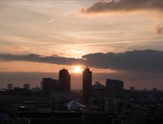 Berlin Potsdamer Platz Timelapse, Day Night transition, 4K - stock footage