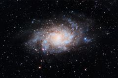 Stock Photo of Triangulum Galaxy captured with an amateur telescope