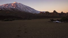 Teide volcano at sunset in Tenerife Stock Footage