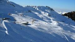 Ski area,The Glacier, Kitzsteinhorn, Salzburg, Austria, Pinzgau Stock Footage