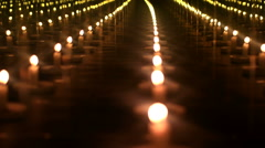 Candles go out. Black background - stock footage