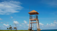 Phuket Beach Rescue Tower Stock Footage