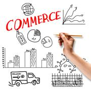 Commerce business Stock Photos