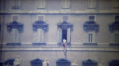 1963: Catholic Pope waves Vatican City residents window greeting. Stock Footage