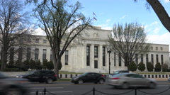Push in Federal Reserve building, Washington, DC Stock Footage