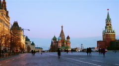 Moscow Kremlin at night - stock footage