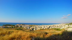 Beautiful View at Rethymno with Coastline Stock Footage
