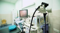 Gastroscopy Office in Hospital of Ambulance Stock Footage