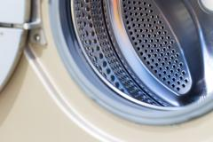 drum washing machine as a background - stock photo