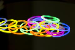colored lights fluorescent neon - stock photo