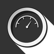Icon - dial symbol with shadow Stock Illustration