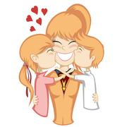 Lovin' mommy collection Stock Illustration