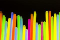 colored lights fluorescent neon - stock photo