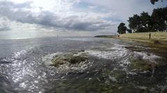 Sea Seashore Waves Stock Footage