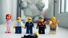 lego man - stock footage