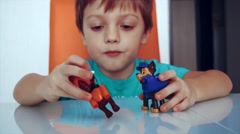Stock Video Footage of little boy playing paw patrol