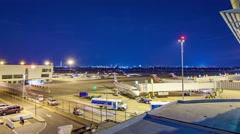 Raegan National DCA Airport Washington DC Platform Evening Timelapse Stock Footage