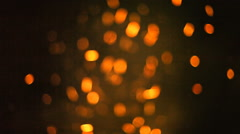 Stock Video Footage of Bonfire sparkles bokeh big