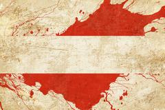 Austrian flag Stock Illustration