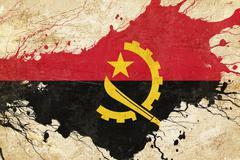 Angola flag Stock Illustration