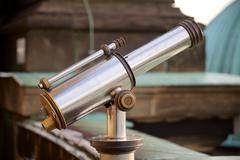 Old-Fashioned Telescope - stock photo