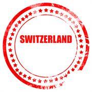 Greetings from switzerland Stock Illustration