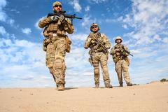 US Army Special Forces Group soldiers - stock photo