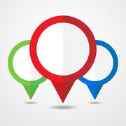 Collection of map markers - vector illustration. - stock illustration
