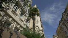Buildings located on Rue du Maréchal Joffre in Nice Stock Footage