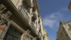 Buildings seen on a sunny day on Rue du Maréchal Joffre in Nice - stock footage