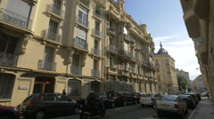 Driving and walking on Rue de Rivoli in Nice Stock Footage