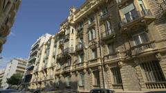 Beautiful building on Rue de Rivoli in Nice Stock Footage