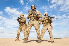 US Army Special Forces Group soldiers Stock Photos