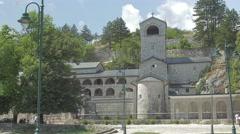 Cetinje old monastery Stock Footage
