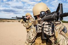 US Army Special Forces Group soldier - stock photo