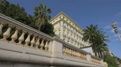 West End Hotel near Massena Museum Gardens in Nice Stock Footage