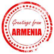 Greetings from armenia - stock illustration