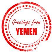 Greetings from yemen - stock illustration