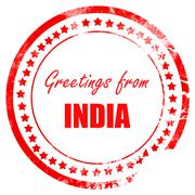 Greetings from india - stock illustration