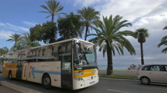 Traffic on Bay of Angels (Promenade des Anglais) in Nice Stock Footage