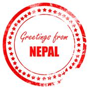 Greetings from nepal Stock Illustration